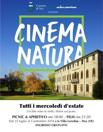 CINEMA NATURA: presso Parco Villa Loredan tutti i Mercoledì d'estate a partire dal 25 Luglio